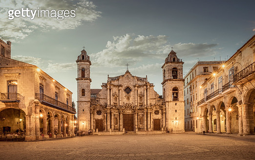 The Cathedral of Havana. - gettyimageskorea