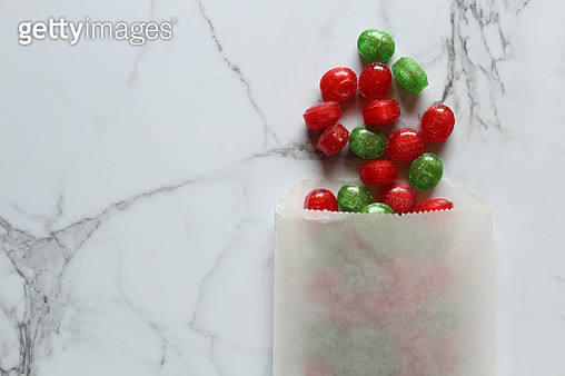 Directly Above Shot Of Candies In Packet On Table - gettyimageskorea