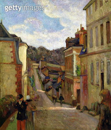 <b>Title</b> : A Suburban Street, 1884<br><b>Medium</b> : oil on canvas<br><b>Location</b> : Galerie Daniel Malingue, Paris, France<br> - gettyimageskorea