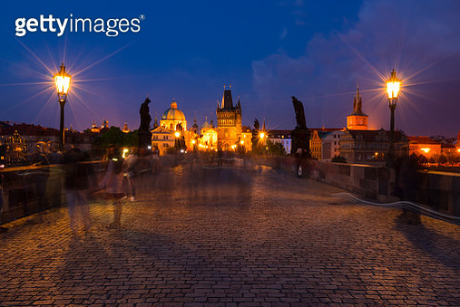 Charles Bridge, Prague, Czech Republic, Europe - gettyimageskorea