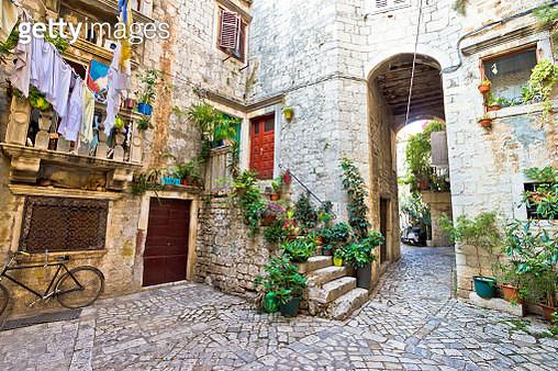 Old stone street of Trogir - gettyimageskorea