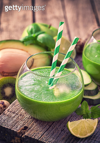 Fresh Homemade Green Smoothie - gettyimageskorea