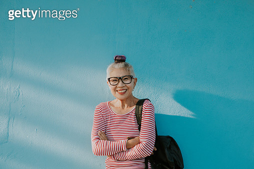 Happiness face of Senior hipster Thai woman - gettyimageskorea