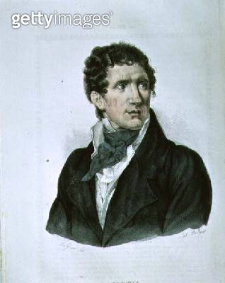 <b>Title</b> : Portrait of Antonio Canova (1757-1822), by Dolfino (litho)<br><b>Medium</b> : lithograph<br><b>Location</b> : Biblioteca Nazionale, Turin, Italy<br> - gettyimageskorea