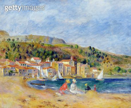 <b>Title</b> : Le Lavandou (oil on canvas)<br><b>Medium</b> : <br><b>Location</b> : Private Collection<br> - gettyimageskorea