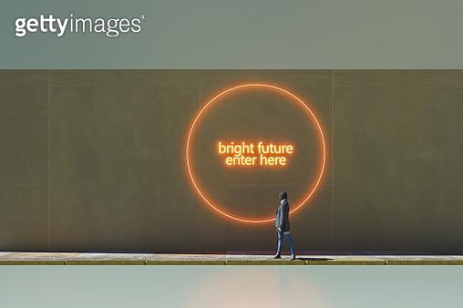 Bright future enter here - gettyimageskorea