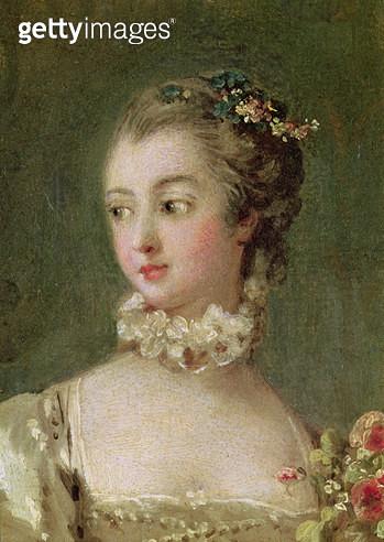 <b>Title</b> : Madame de Pompadour (1721-64) (oil on canvas) (detail of 26230)<br><b>Medium</b> : <br><b>Location</b> : Louvre, Paris, France<br> - gettyimageskorea