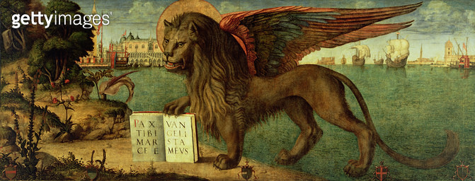 <b>Title</b> : The Lion of St. Mark, 1516 (oil on canvas)<br><b>Medium</b> : oil on canvas<br><b>Location</b> : Palazzo Ducale, Venice, Italy<br> - gettyimageskorea
