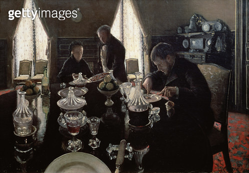 <b>Title</b> : Luncheon, 1876 (oil on canvas)<br><b>Medium</b> : oil on canvas<br><b>Location</b> : Private Collection<br> - gettyimageskorea