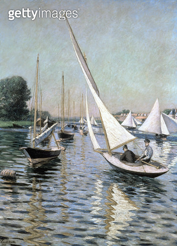 <b>Title</b> : Regatta at Argenteuil, 1893 (oil on canvas)<br><b>Medium</b> : <br><b>Location</b> : Private Collection<br> - gettyimageskorea