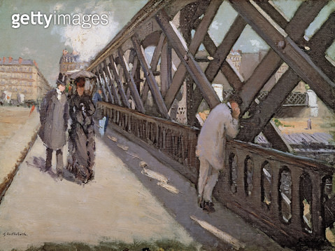 <b>Title</b> : Study for Le Pont de l'Europe (oil on canvas)<br><b>Medium</b> : <br><b>Location</b> : Private Collection<br> - gettyimageskorea