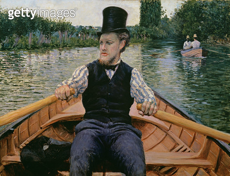 <b>Title</b> : Rower in a Top Hat, c.1877-78 (oil on canvas)Additional InfoCanotier en chapeau haut de forme;<br><b>Medium</b> : oil on canvas<br><b>Location</b> : Private Collection<br> - gettyimageskorea