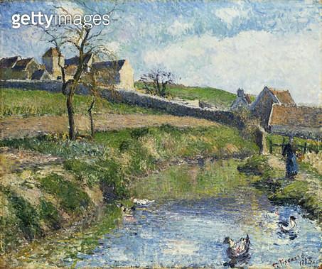 <b>Title</b> : The Farm at Osny, 1883<br><b>Medium</b> : oil on canvas<br><b>Location</b> : Galerie Daniel Malingue, Paris, France<br> - gettyimageskorea