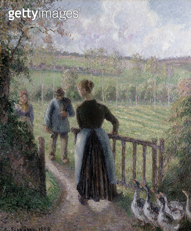 <b>Title</b> : The Woman with the Geese, 1895<br><b>Medium</b> : oil on canvas<br><b>Location</b> : Galerie Daniel Malingue, Paris, France<br> - gettyimageskorea