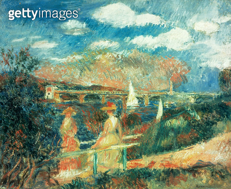 <b>Title</b> : The banks of the Seine at Argenteuil, 1880<br><b>Medium</b> : oil on canvas<br><b>Location</b> : Galerie Daniel Malingue, Paris, France<br> - gettyimageskorea