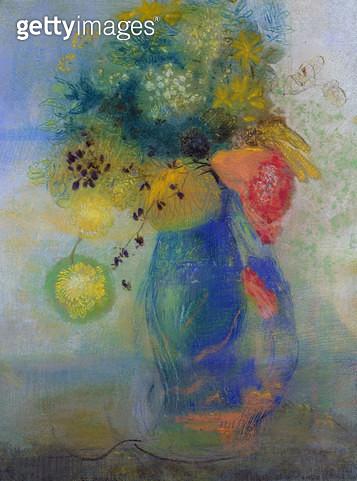 Vase of flowers (pastel) - gettyimageskorea