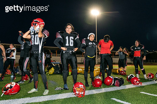 Female American Football Team Training - gettyimageskorea