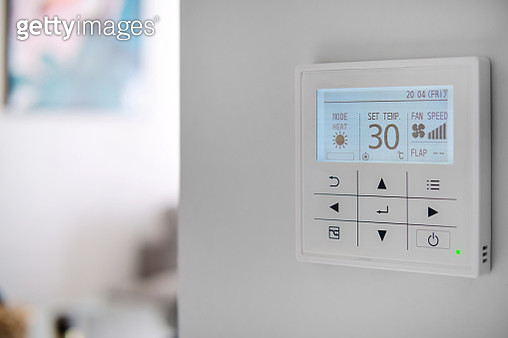 Climate control panel close up. Smart home concept - gettyimageskorea
