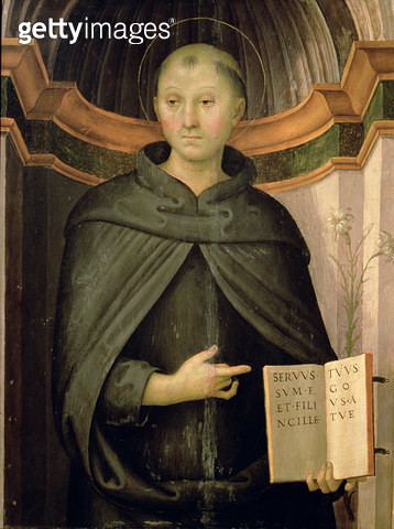 <b>Title</b> : St. Nicholas of Tolentino (panel)<br><b>Medium</b> : <br><b>Location</b> : Palazzo Barberini, Rome, Italy<br> - gettyimageskorea