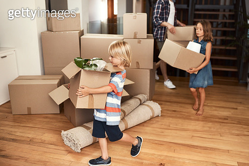 We all help out together as a family - gettyimageskorea