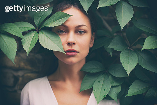 Portrait of beautiful woman without make-up - gettyimageskorea