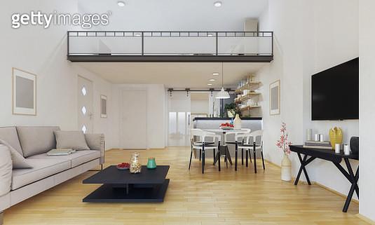 Modern duplex apartment - gettyimageskorea