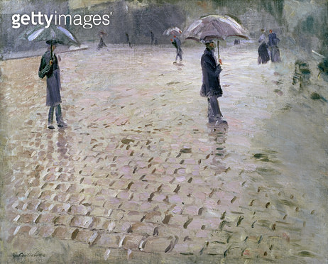 <b>Title</b> : Study for a Paris Street, Rainy Day, 1877 (oil on canvas)Additional InfoRue de Paris, Temps de Pluie;<br><b>Medium</b> : oil on canvas<br><b>Location</b> : Private Collection<br> - gettyimageskorea