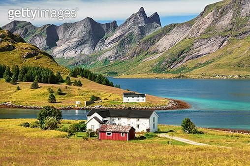 Vestvagoy island, Lofoten Islands, Norway - gettyimageskorea