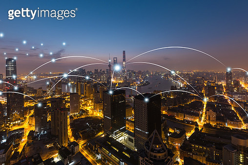 City network technology in Shanghai,China - gettyimageskorea