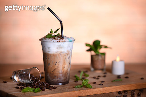 Cold coffee drink frappe - gettyimageskorea