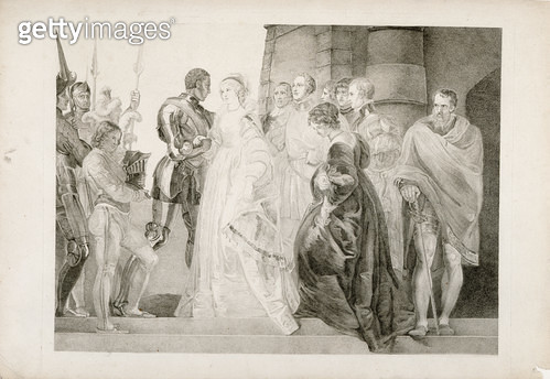 <b>Title</b> : Othello, Act II, Scene I, engraved by Thomas Ryder (1746-1810) 1803 (engraving)Additional Infoengraver's early proof;<br><b>Medium</b> : engraving<br><b>Location</b> : Yale Center for British Art, Paul Mellon Collection, USA<br> - gettyimageskorea