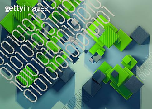 Blocks and binary code data - gettyimageskorea