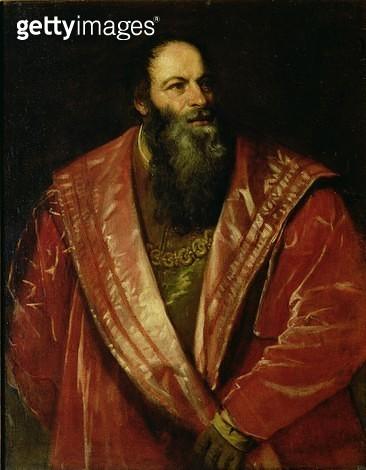 <b>Title</b> : Portrait of Pietro Aretino ('The Aretin') (1492-1556)<br><b>Medium</b> : oil on canvas<br><b>Location</b> : Palazzo Pitti, Florence, Italy<br> - gettyimageskorea