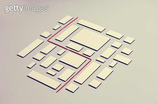 A red line laid threw a maze symbolizing the right way - gettyimageskorea