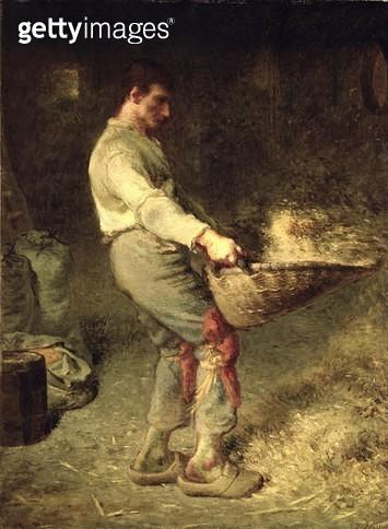 <b>Title</b> : A Winnower, 1866-68 (oil on canvas)<br><b>Medium</b> : oil on canvas<br><b>Location</b> : Musee d'Orsay, Paris, France<br> - gettyimageskorea