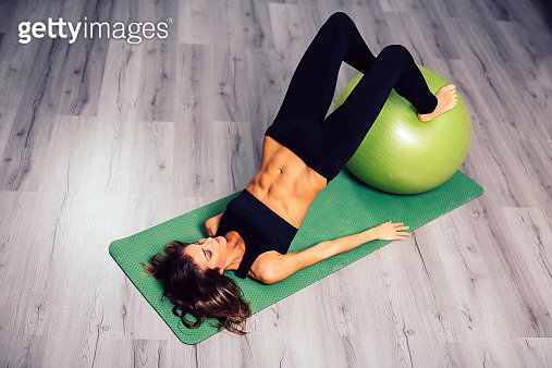 Beautiful woman is working out - gettyimageskorea