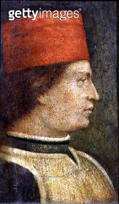 <b>Title</b> : Head of a man in a red hat (tempera on panel)<br><b>Medium</b> : tempera on panel<br><b>Location</b> : The Royal Cornwall Museum, Truro, Cornwall, UK<br> - gettyimageskorea