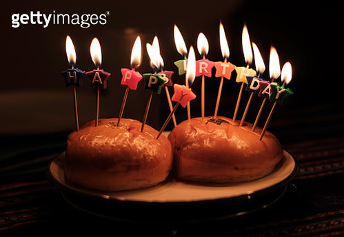 Close-Up Of Birthday Cake On Table - gettyimageskorea