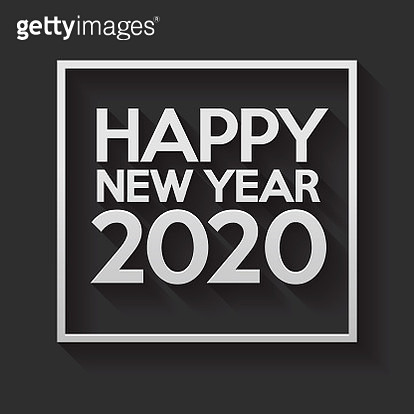 A Happy New Year 2020 sign on a white paper background. The vector file is built in the CMYK color space for optimal printing. EPS contains transparencies. - gettyimageskorea