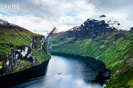 Fjord in the clouds - gettyimageskorea