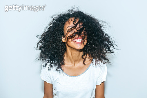 Portrait of laughing young woman - gettyimageskorea