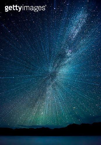 Milkyway (Milky Way) at Pangong Lake (Pangong Tso), Ladakh, India. - gettyimageskorea