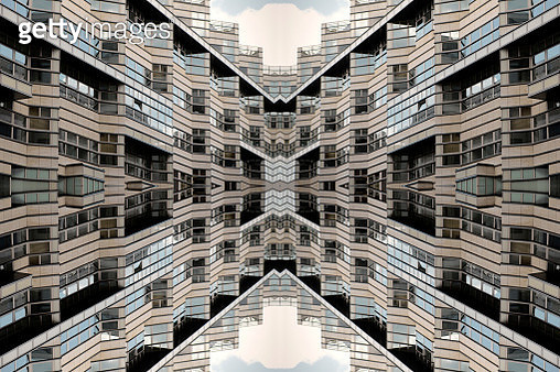 Impossible architectures: digital manipulation of art-deco-inspired Department Store Quartier 206 in Friedrichstrasse, Berlin, Germany - gettyimageskorea