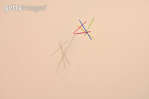 sticks balancing on top of each other, symbolizing balance and concentration - gettyimageskorea