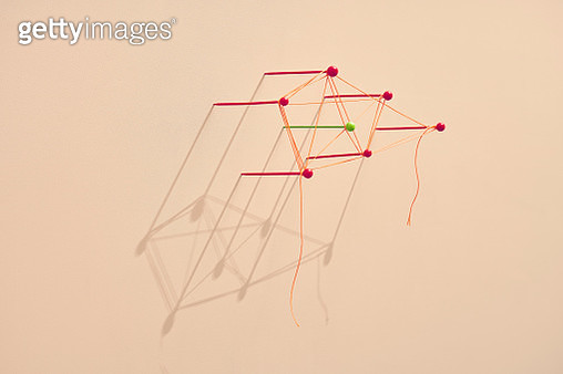 a conceptual image showing map pins tangled with a string - gettyimageskorea