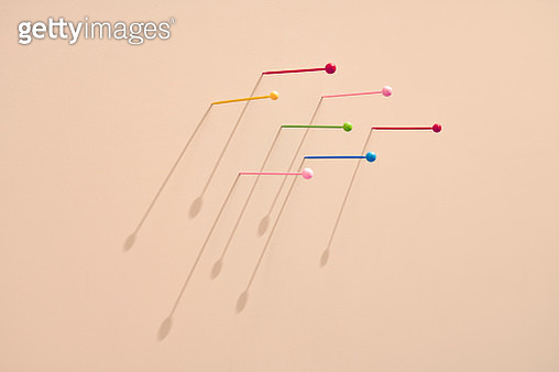 conceptual image multi colored map pins symbolizes personality and diversity - gettyimageskorea
