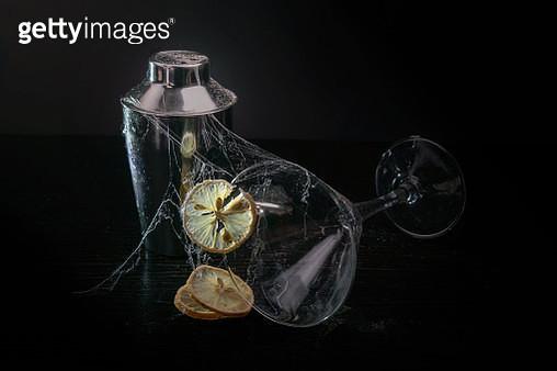 Martini glass, Lemon decaying - gettyimageskorea
