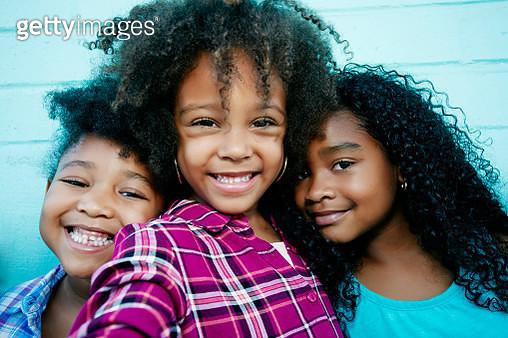 Portrait of smiling girls - gettyimageskorea