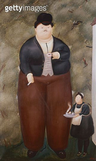 <b>Title</b> : El Patron, 1968 (oil on canvas)<br><b>Medium</b> : oil on canvas<br><b>Location</b> : Private Collection<br> - gettyimageskorea