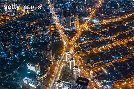 aerial view of road cross - gettyimageskorea